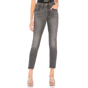 LEVI'S 501 skinny high rise jeans
